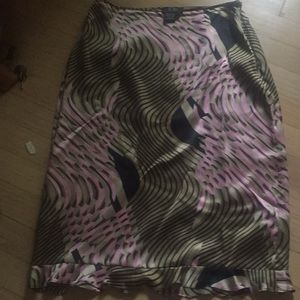 Bcbg silk skirt